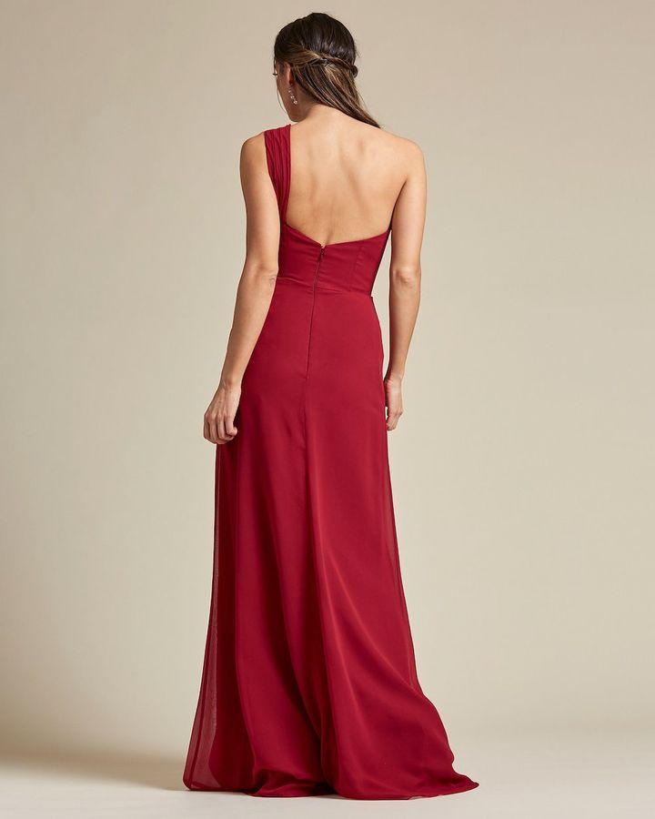 One Strap Shoulder Maxi Dress - Back