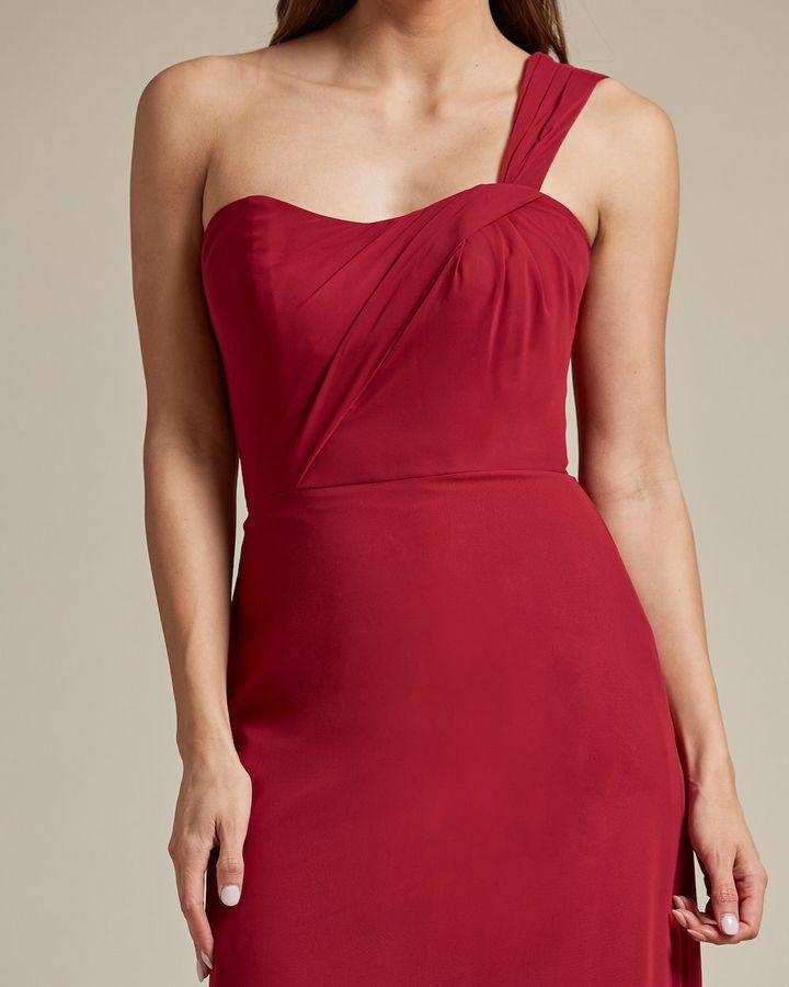 One Strap Shoulder Maxi Dress - Detail