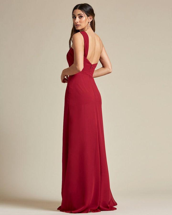 One Strap Shoulder Maxi Dress - Side