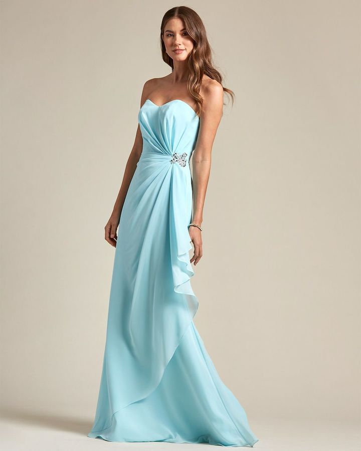 Strapless Sweetheart Maxi Dress - Front
