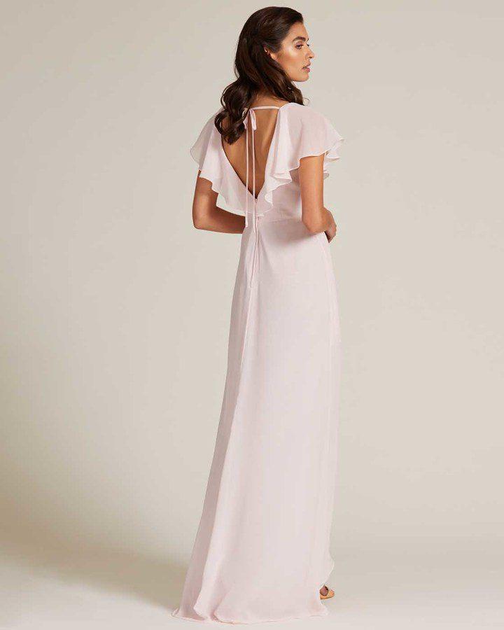 Pink Ruffle Top Long Skirt Dress - Back