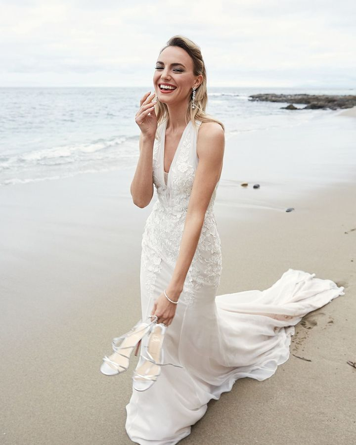Classic Style Off White Mermaid Wedding Dress - Editorial